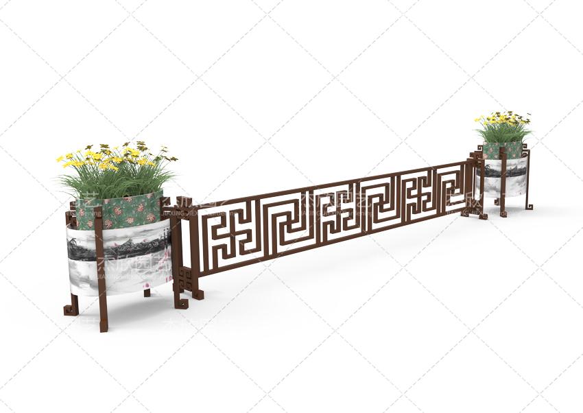 椭圆形定制铝合金贝博软件护栏