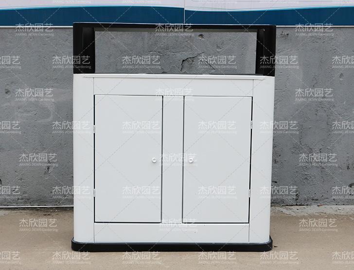 白色垃圾箱现代款